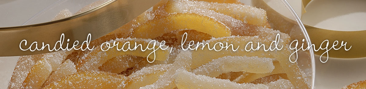 Candied orange, lemon and ginger