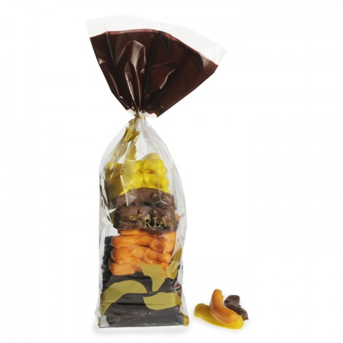 Assorted chocolate-coated orange and lemon peel strips