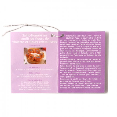 Mini-booklet of four violet recipes