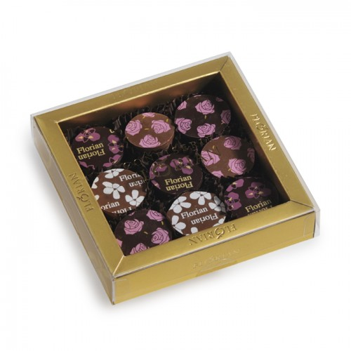 9-piece box of Chocofleurs