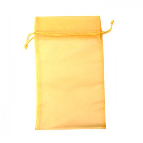 Yellow organza pouch