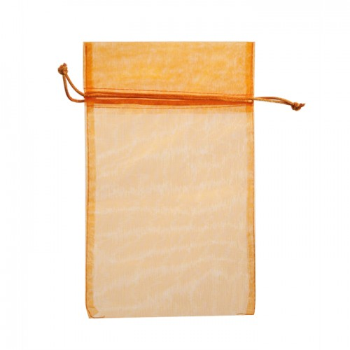 Orange organza pouch