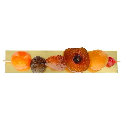 Brochette de fruits confits