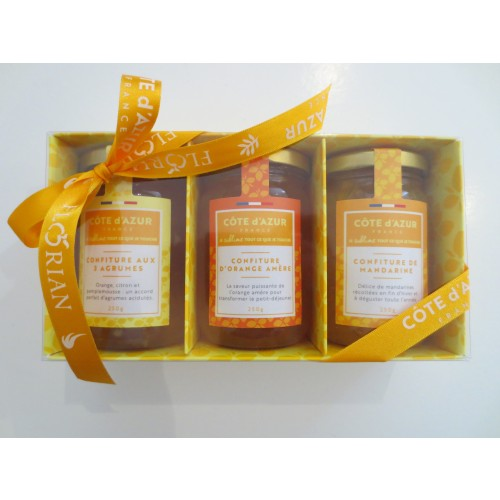 Set of 3x250 gr citrus fruit jars - Côte d'Azur France Limited edition