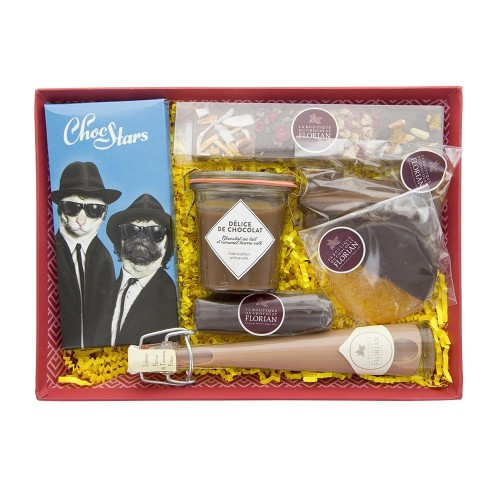 """For him"" chocolate gift basket"