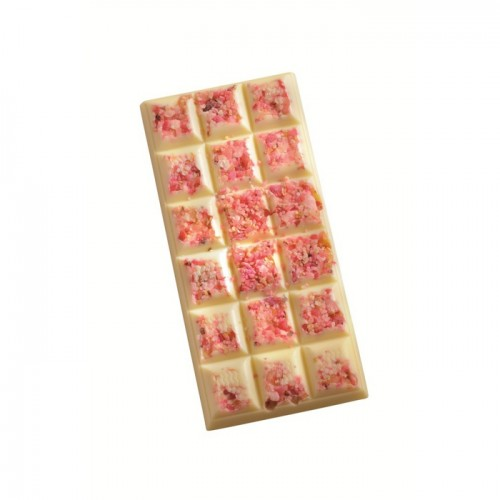 Bar of rose-flavored white chocolate