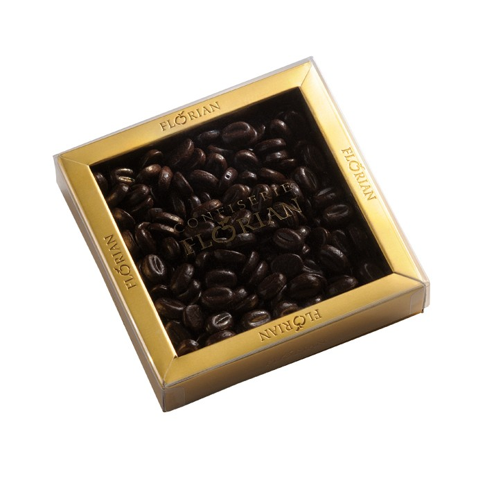 Box of coffee-flavored chocolate beans 140g