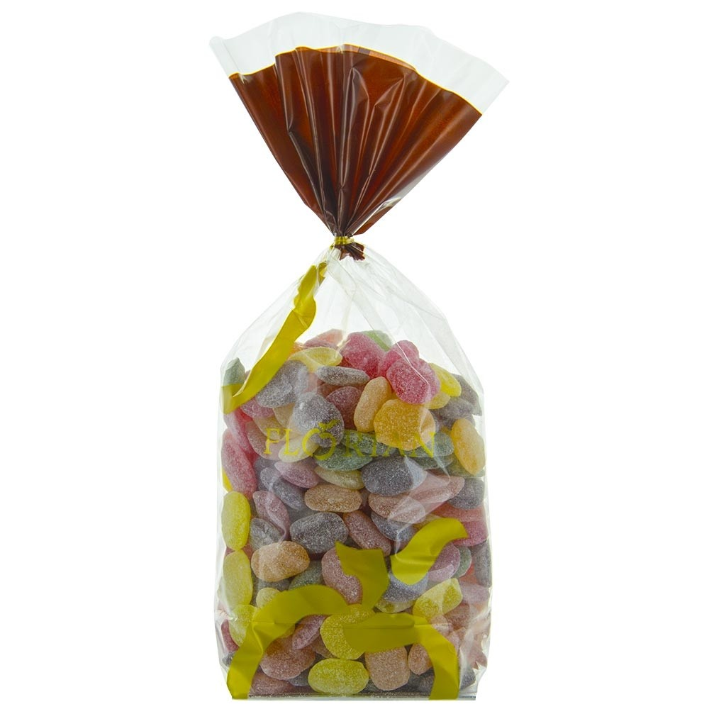 Bag of flower and fruit flavoured candies - 1kg sachet