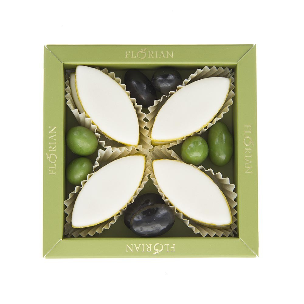 Calissons and chocolate olives giftbox