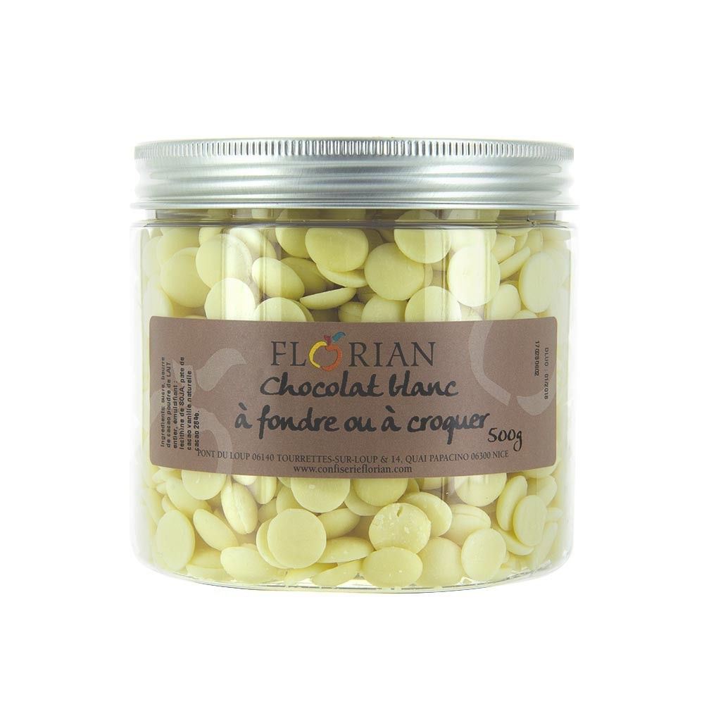 White chocolate chips - 500g pot