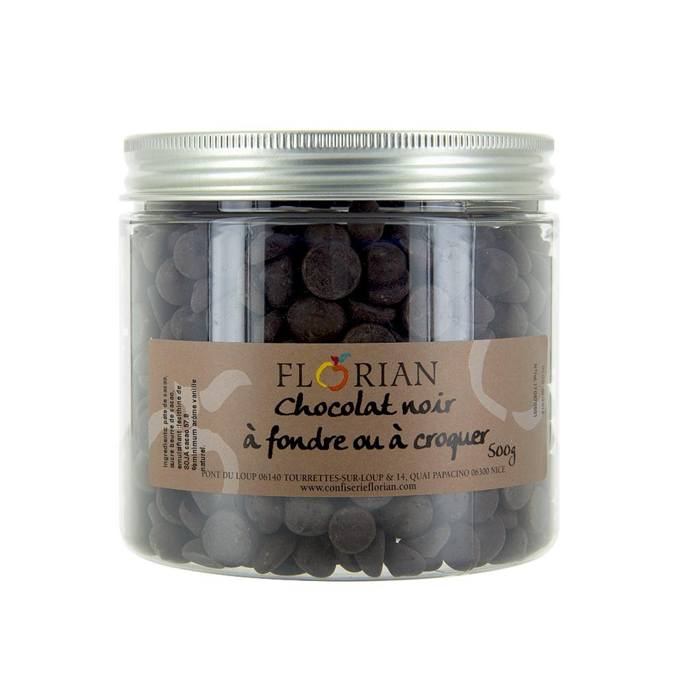 Dark chocolate chips - 500g pot