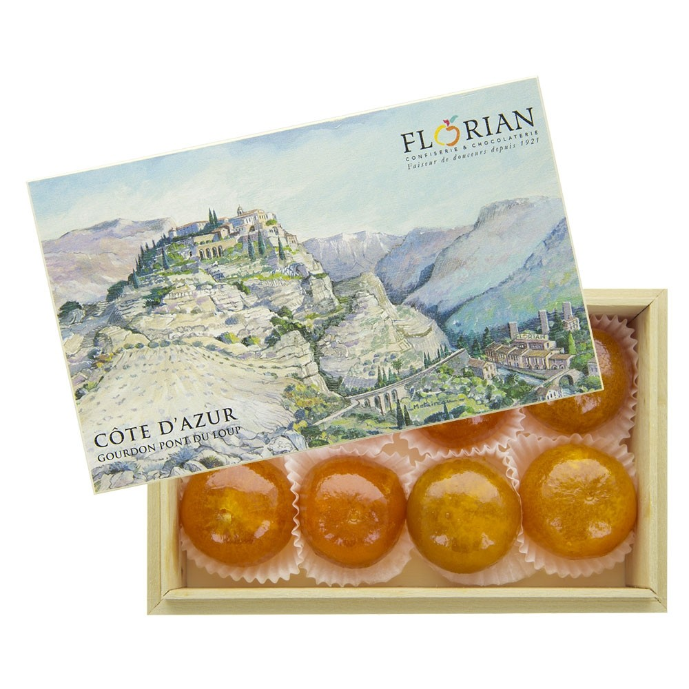 Gourdon gift box of Candied tangerines