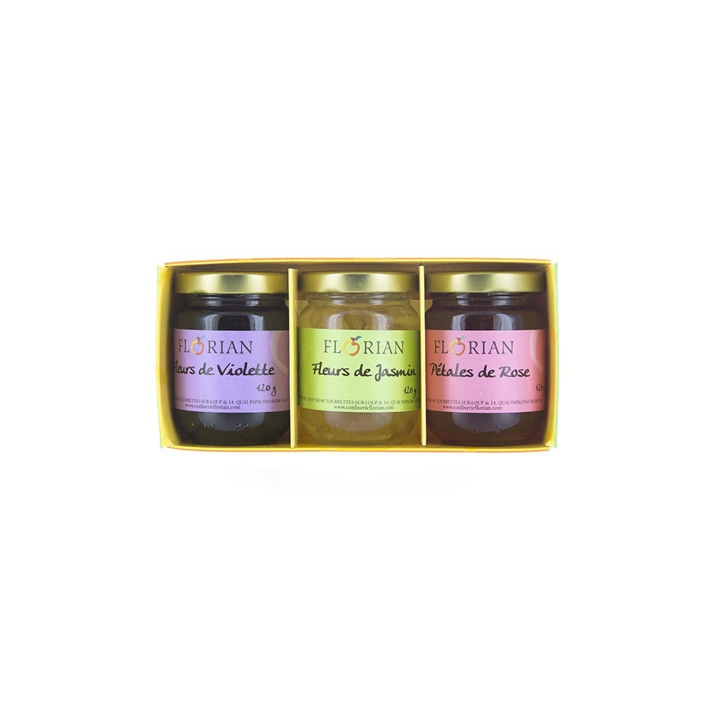 Gourmet 3 flower preserves gift set