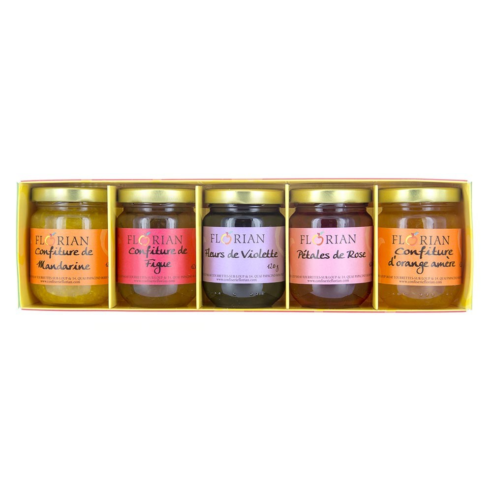 5 traditional Florian jam gift set - Citrus and flower collection