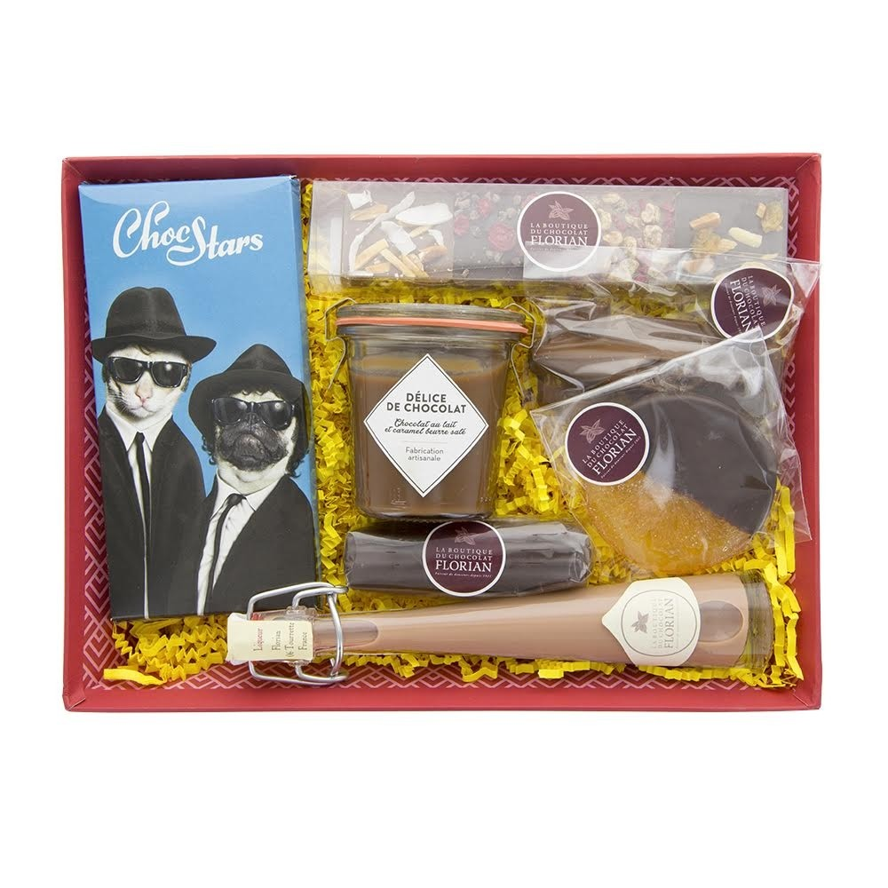 """""""For him"""" chocolate gift basket"""