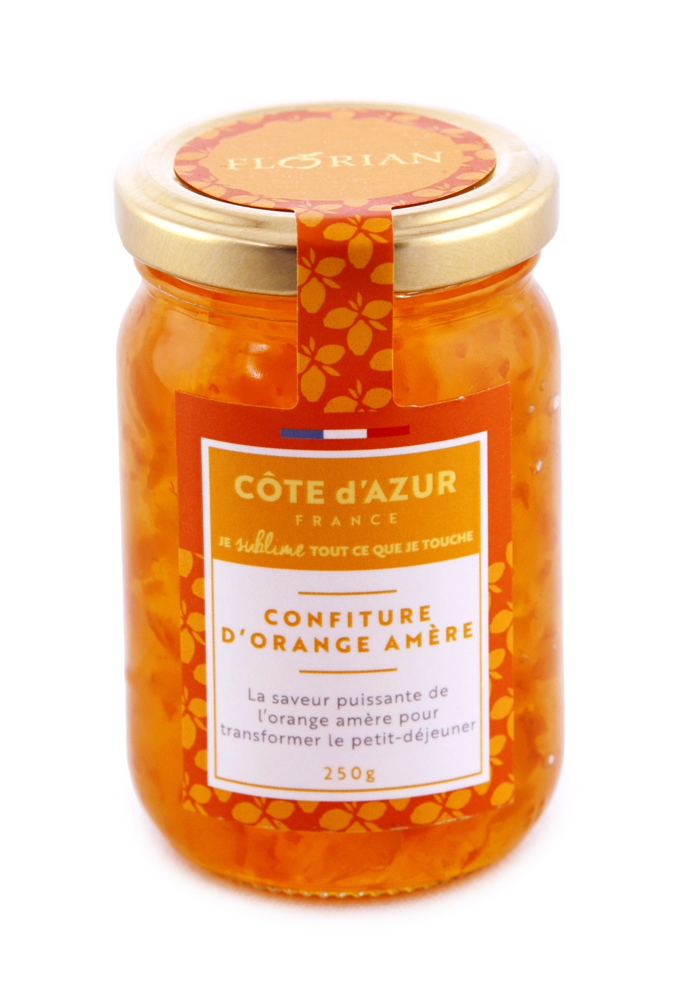 250 gr marmelade jar - Collection Côte d'Azur France