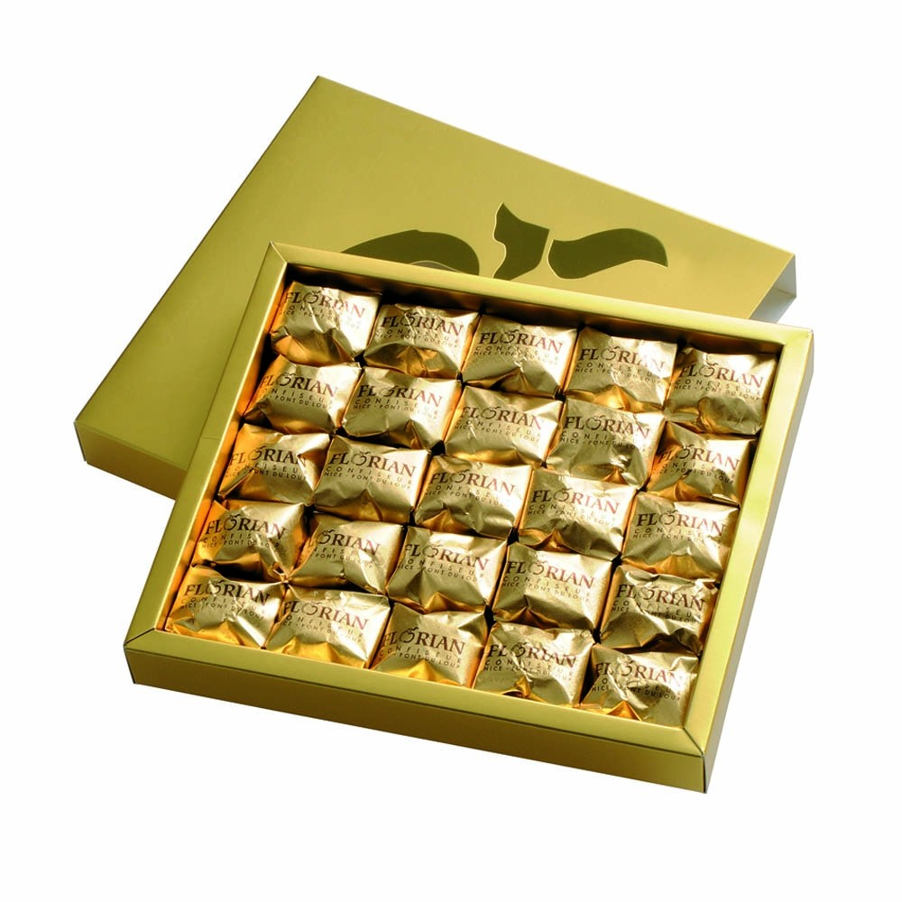Luxury box of candied chestnuts