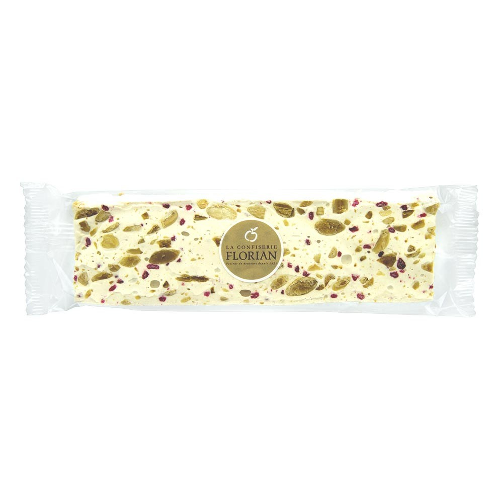 Nougat with crystallised rose petals - 100g