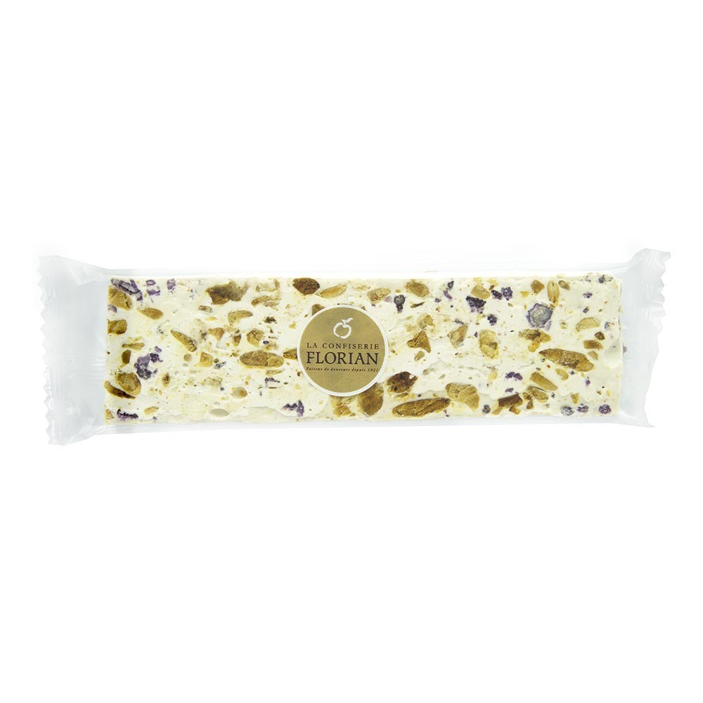 Nougat with crystallized violets - 100g