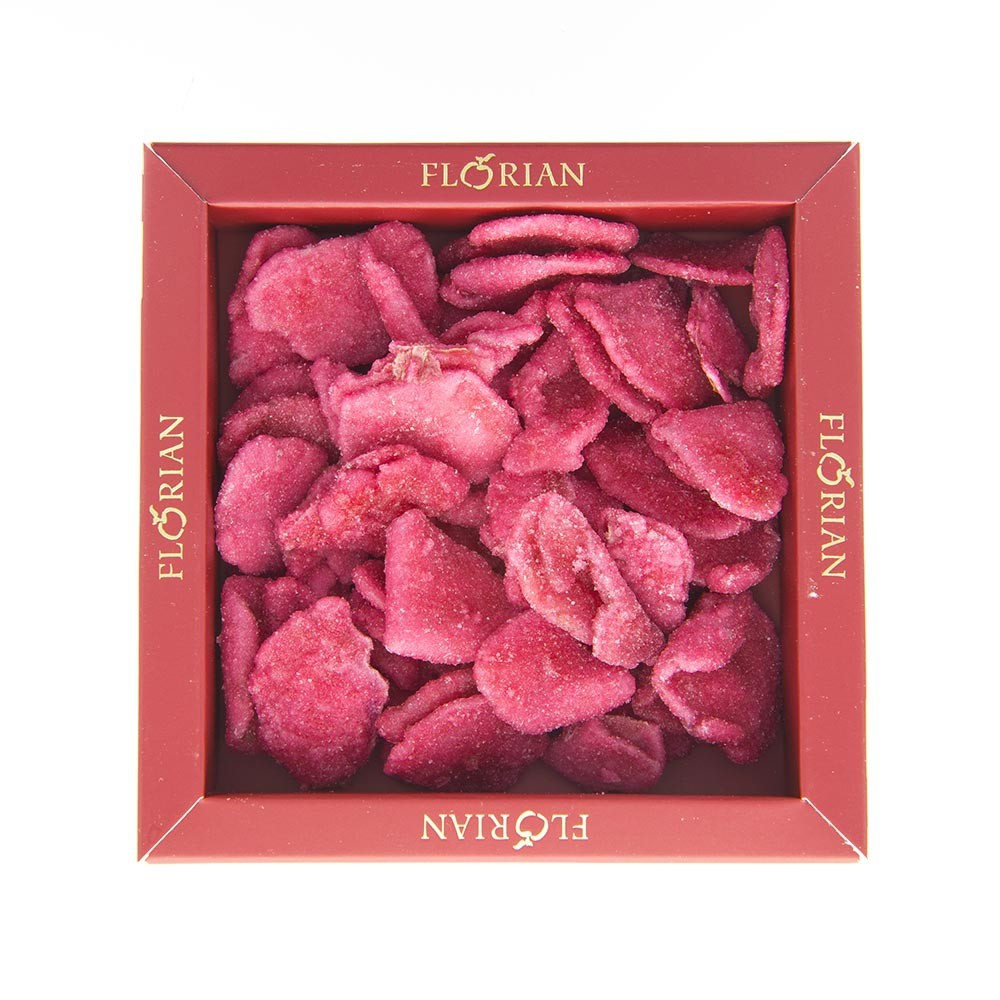 Crystallized rose petals - 80g box