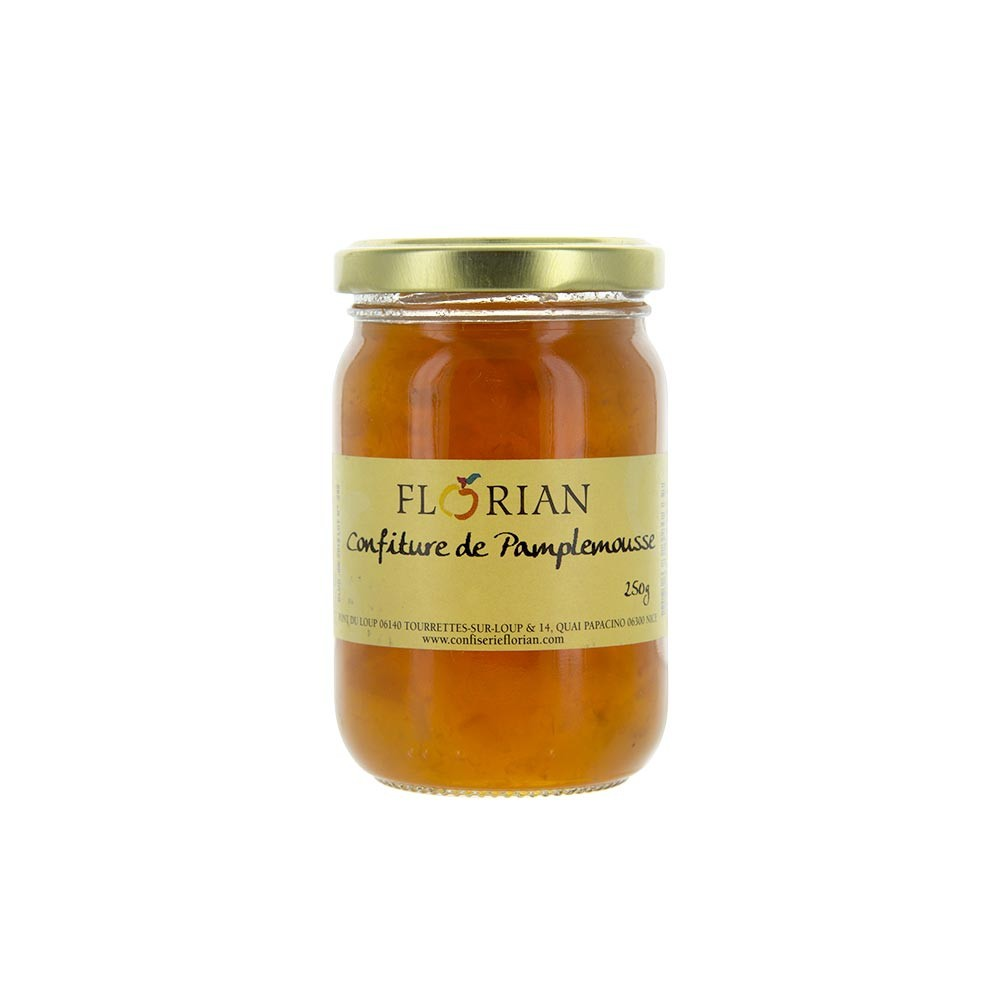 Glass jar of grapefruit jam 250g