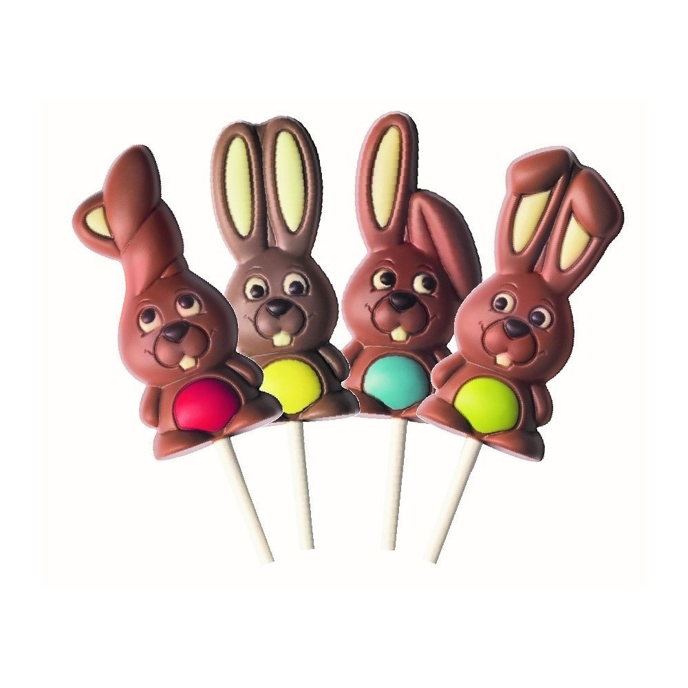Set of 4 Easter chocolate bunnies