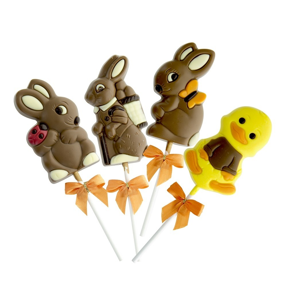 Set of 4 Easter chocolate lollies