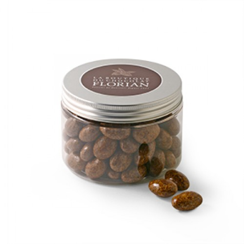 Milk, toffee and salt chocolate coated almonds
